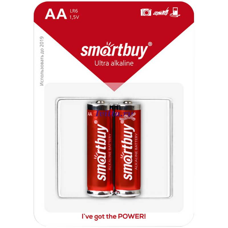 Батарейка SmartBuy LR06 BC2 (AA) 2шт.