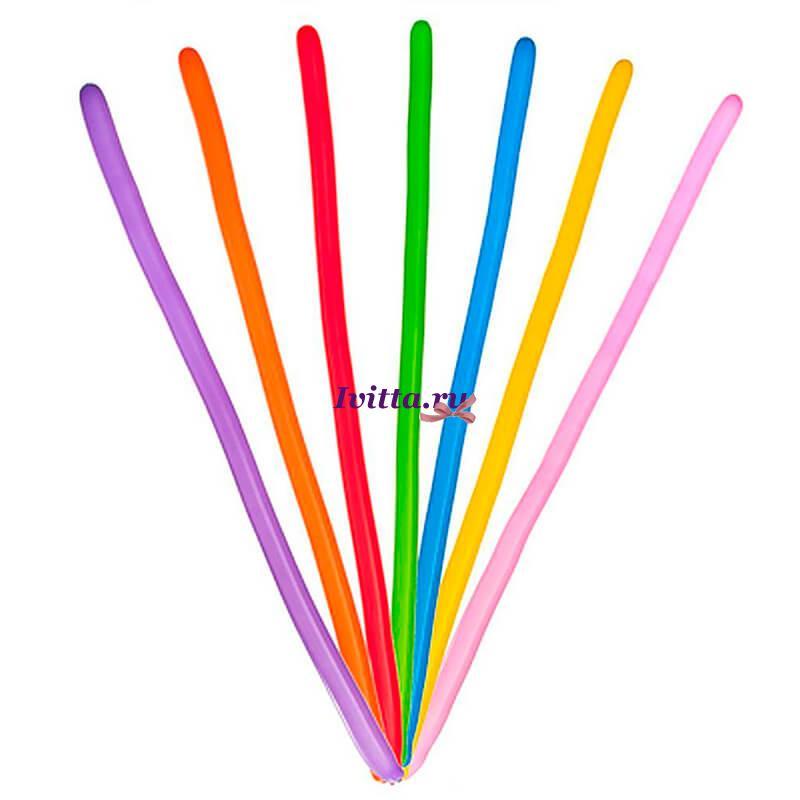 Длинные шары для моделирования разных цветов (15 штук)