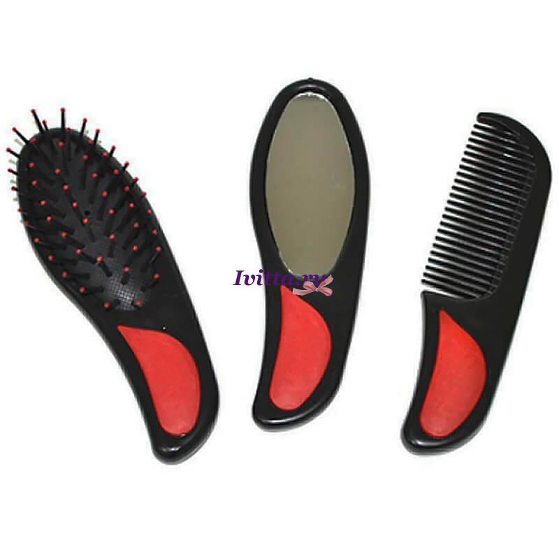 Набор для волос (расческа, гребень, зеркало)