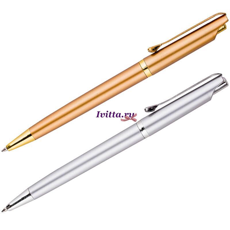 Ручка шариковая Gold + Silver автоматическая (1+1)