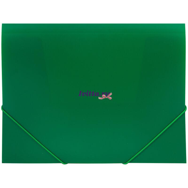 Папка на резинке А4, 500мкм, зеленая