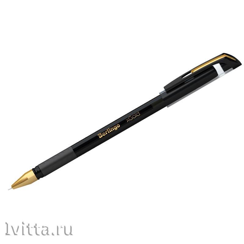 Ручка шариковая Berlingo xGold черная 0,7мм