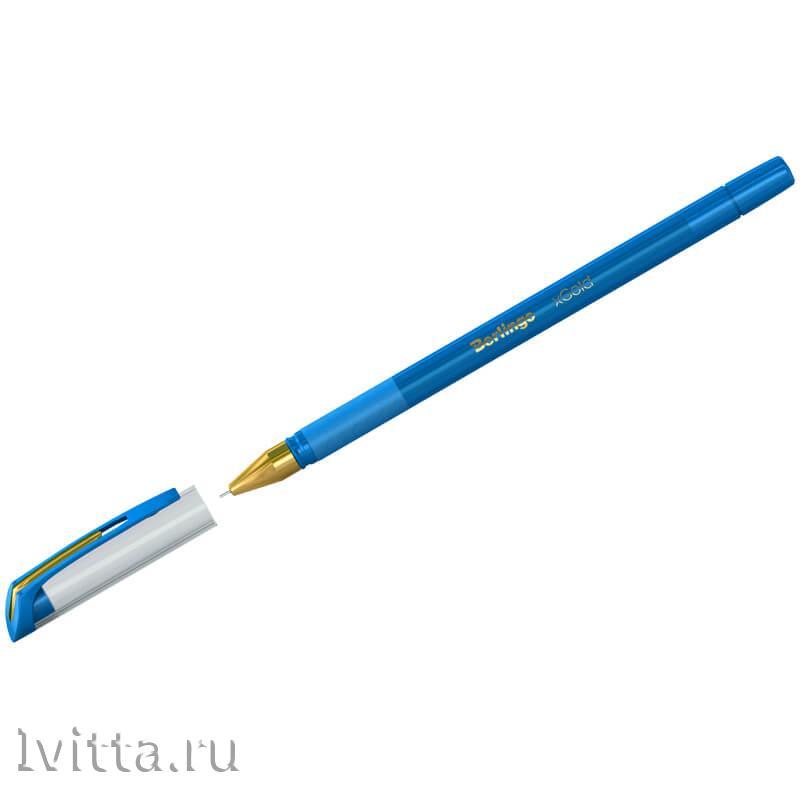 Ручка шариковая Berlingo xGold голубая 0,7мм