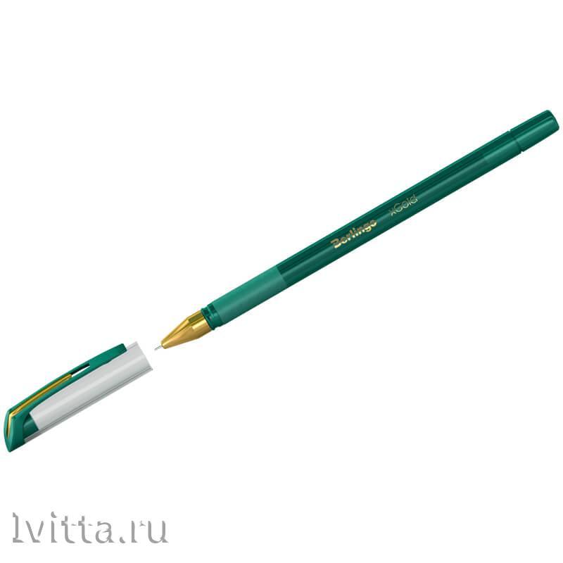 Ручка шариковая Berlingo xGold зеленая 0,7мм