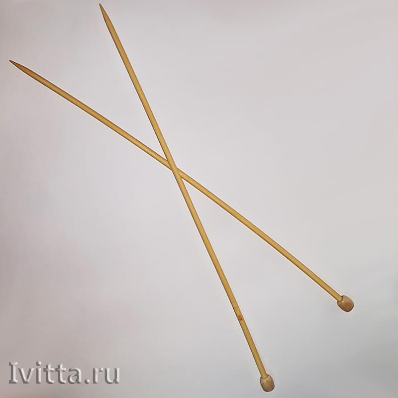 Спицы бамбук прямые 35 см - 36см №5