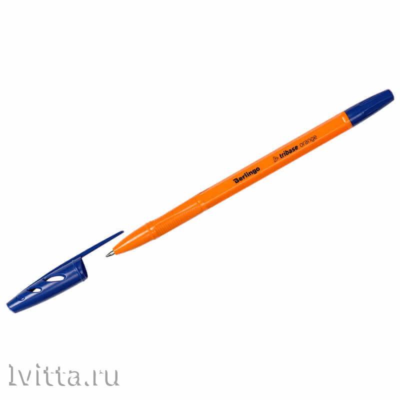 Ручка шариковая Berlingo Tribase Orange синяя 0.7мм - 5 шт