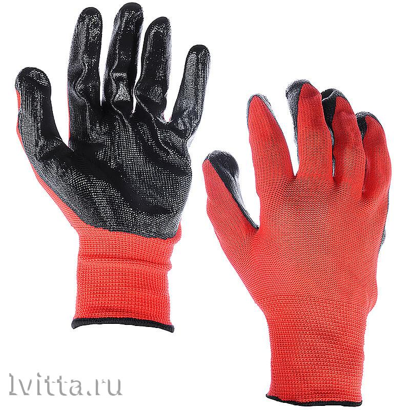 Перчатки садовые с нитриловым полуобливом (р-р 10)