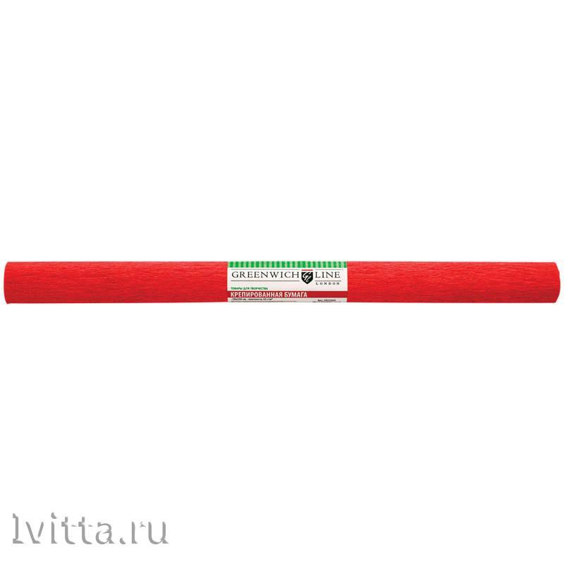 Бумага крепированная 50*250см, красная (в рулоне)