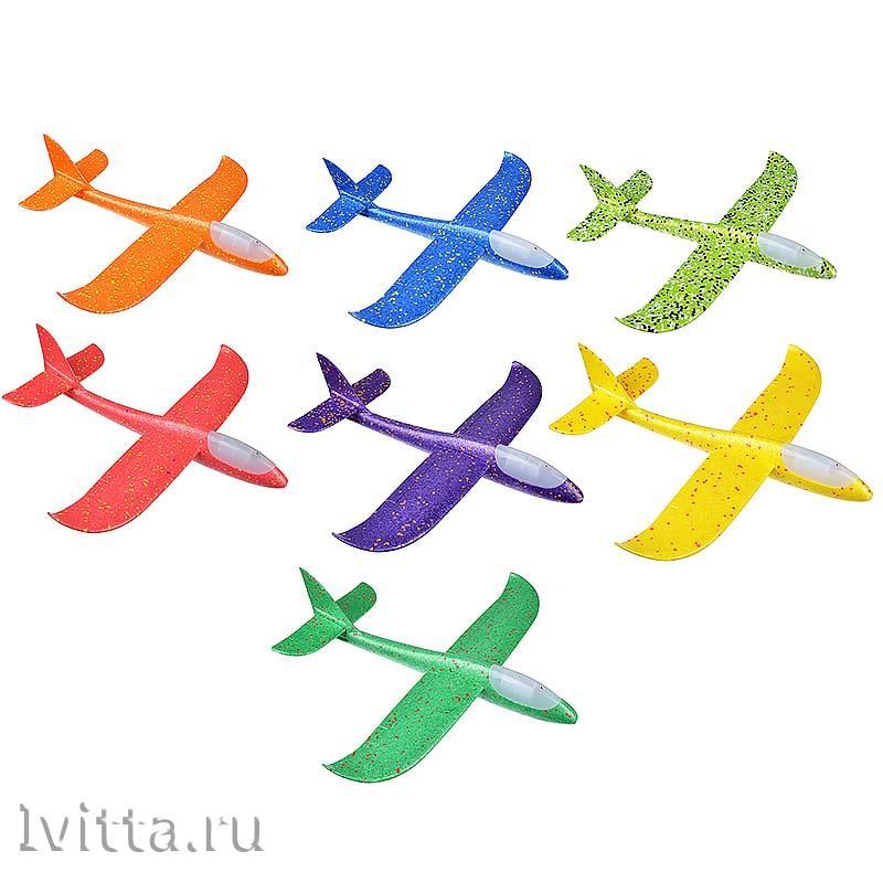 Самолет-планер, свет, полимер, 48*10*48