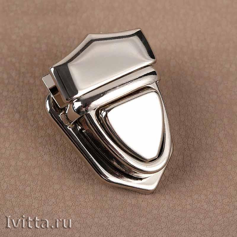 Замок-клапан на зажимах 30*25 (серебро)