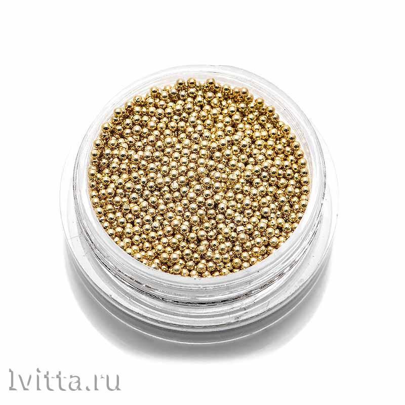 Бульонки металлические TNL 1мм (золото)
