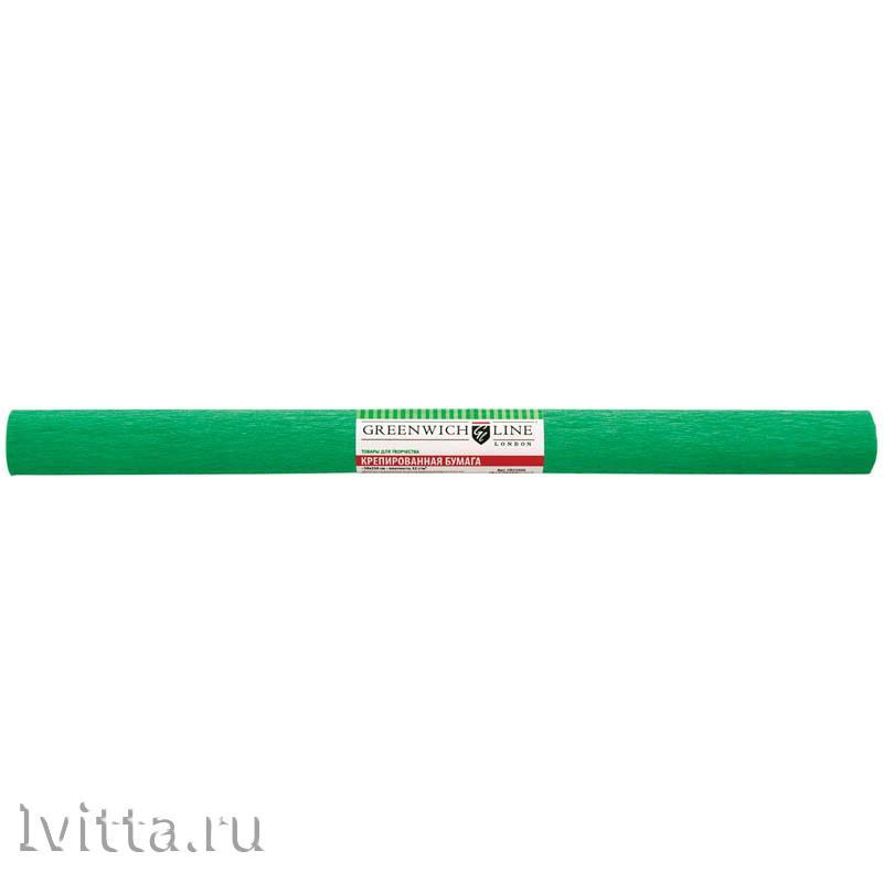 Бумага крепированная 50*250см, зеленая (в рулоне)