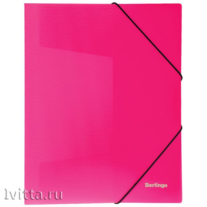 Папка на резинке Berlingo Neon А4, 500мкм, неоновая розовая