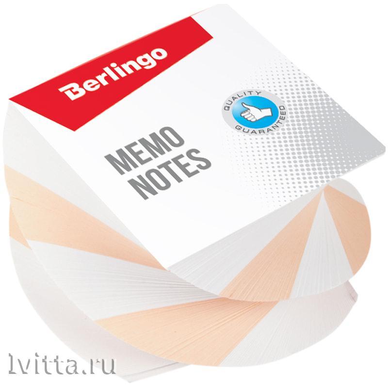 Блок для записей на склейке Berlingo Classic, витой, цветной, 8*8*5см