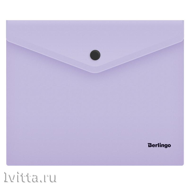 Папка-конверт на кнопке Berlingo Instinct, А5+, 180мкм, лаванда
