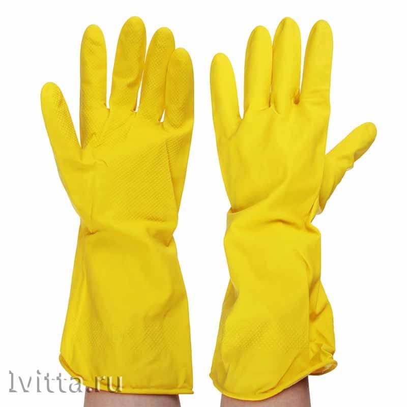 Перчатки резиновые желтые Размер XL