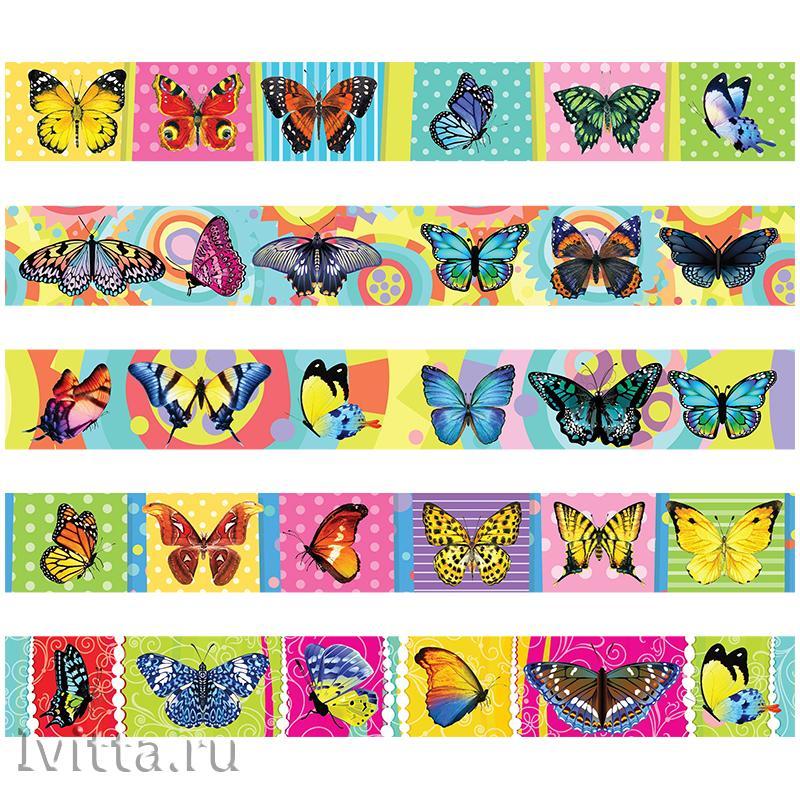 Закладки магнитные ArtSpace Бабочки набор 10шт., блестки