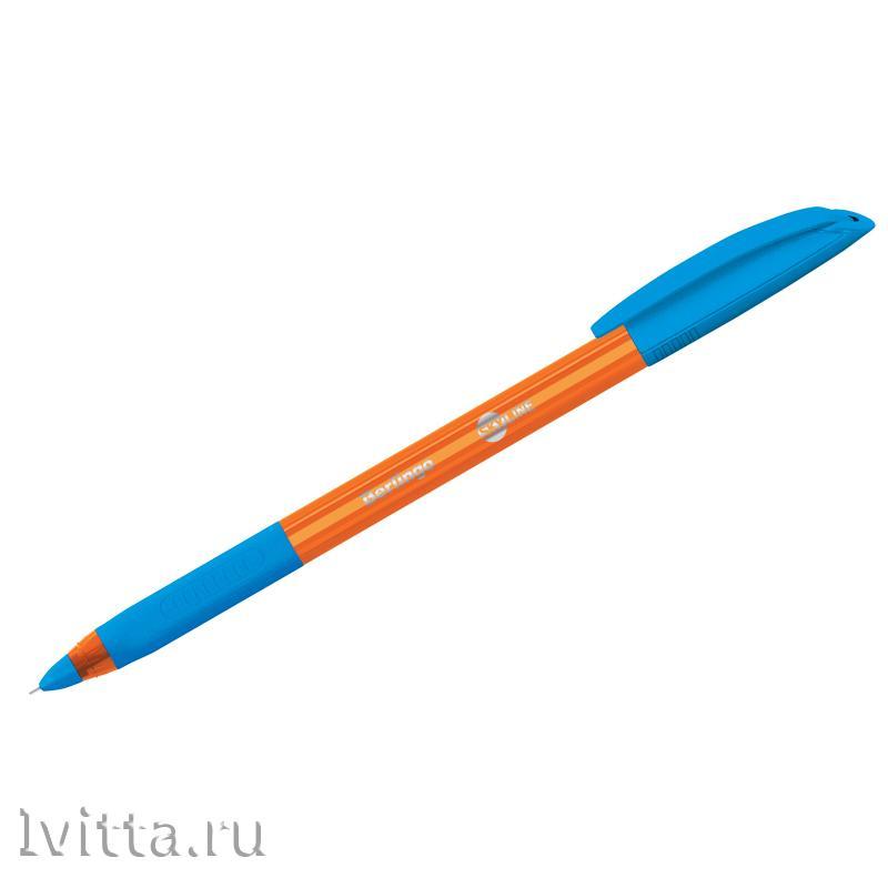 Ручка шариковая Berlingo Skyline, светло-синяя, 0,7мм, игольчатый стержень, грип