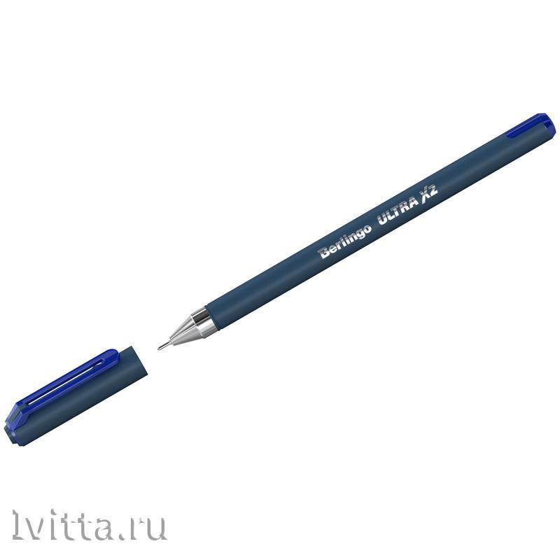 Ручка шариковая Berlingo Ultra X2, синяя, 0,7, игольчатый стержень