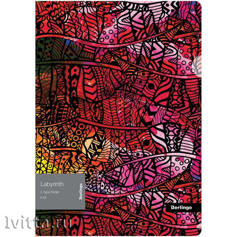 Папка-уголок Berlingo Labyrinth, А4, 200мкм, с рисунком