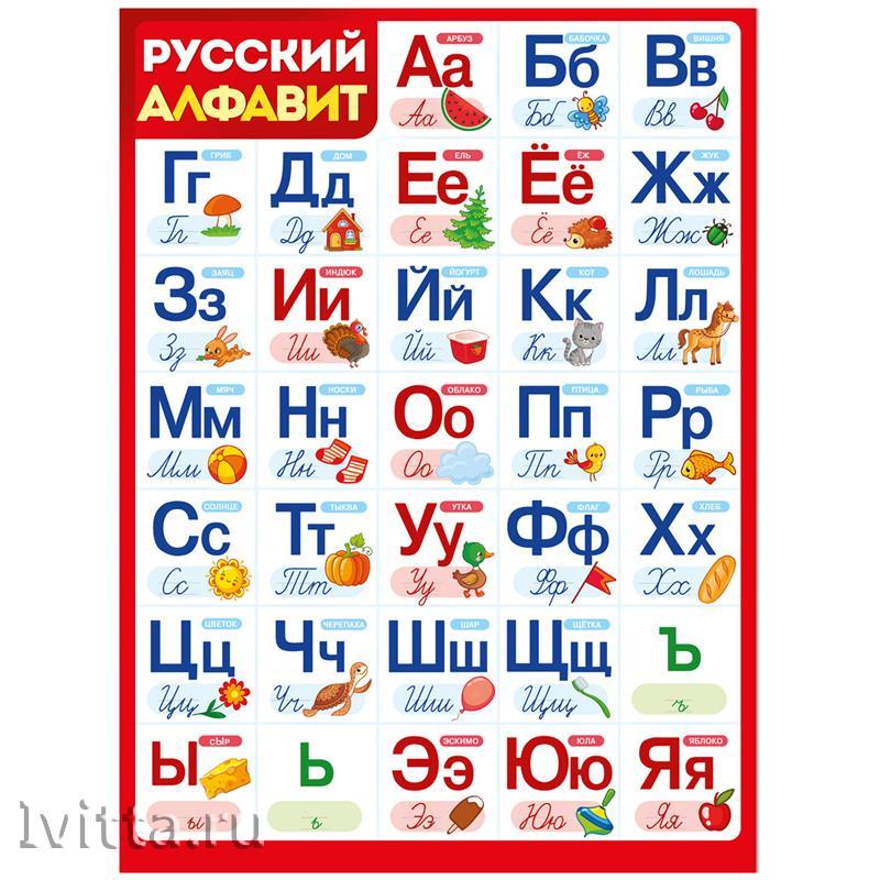 Плакат настенный Алфавит 440*600мм (Империя поздравлений)
